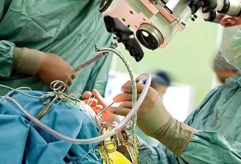 surgeon performing procedure