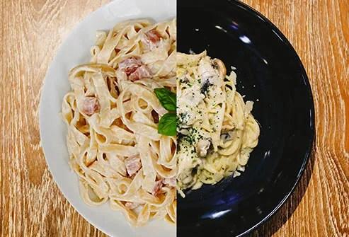 plates of pasta