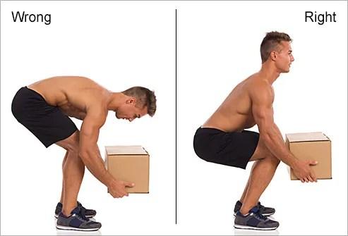 correct posture for lifting