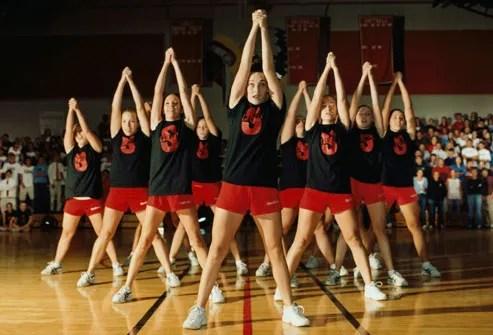 Team Of Cheerleaders