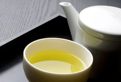 Green Tea On Tray