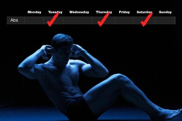 workout routine chart