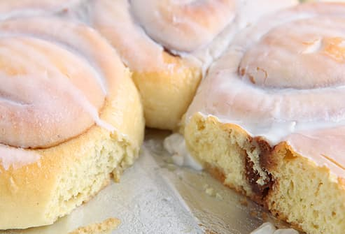 Tray of Cinnamon Rolls