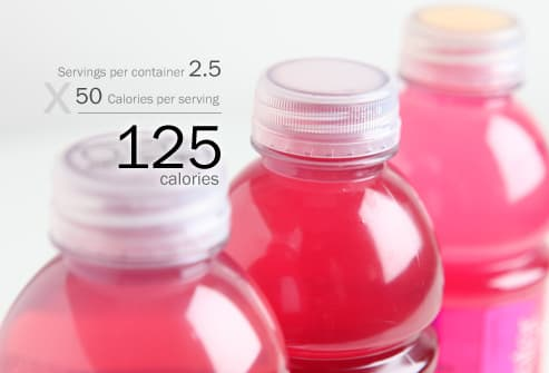 Bottles of Vitamin Water