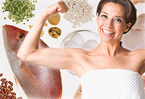 proteins and strong woman