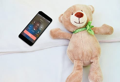 teddy bear and cell phone