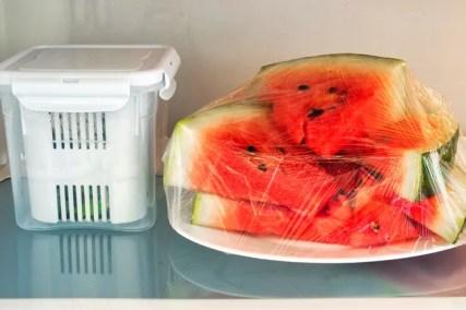 watermelon in refrigerator