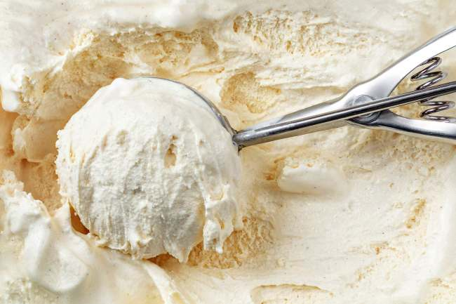 photo of scoop of vanilla ice cream