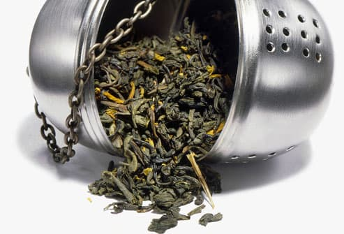 Green Tea in Open Infuser