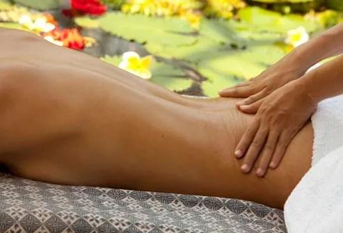 back massage by therapist