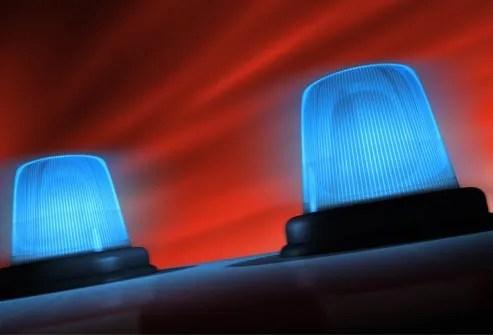 blue emergency lights