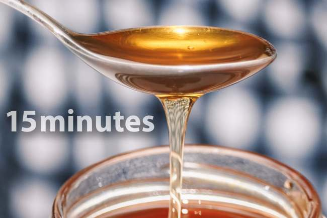 photo of spoonful of honey