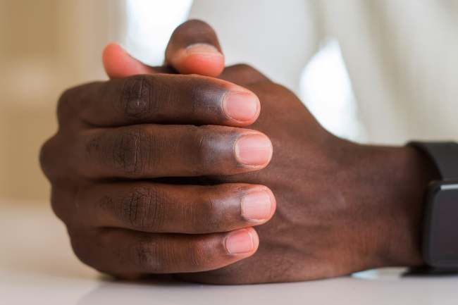 photo of hands and fingernails