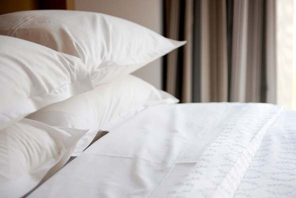 photo of stacked pillows