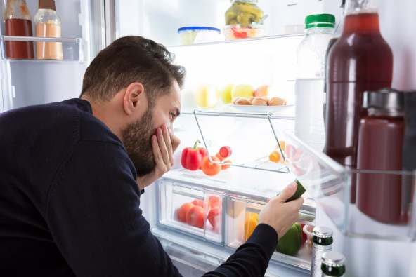 photo of bad smell in fridge
