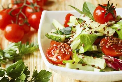Flax seeds salad