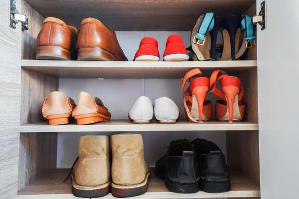 photo of shoes on shelf