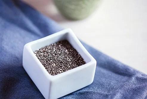 chia seeds close up