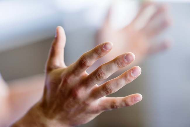 photo of hands gesturing