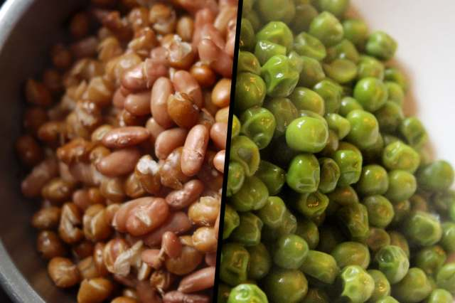beans and peas diptych