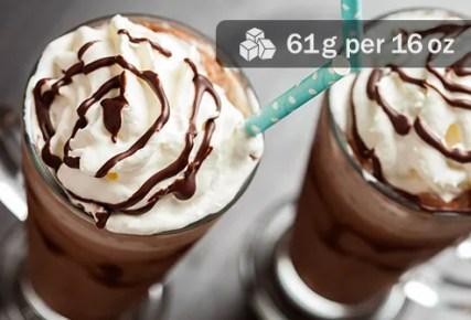 frappuccino close up