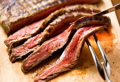 slices of lean steak