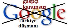 google'a, google, hayır, google boykot, ediyoruz, google'u