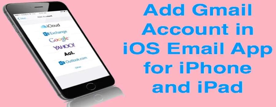 Добавить Gmail в iOS для iPhone и IPad