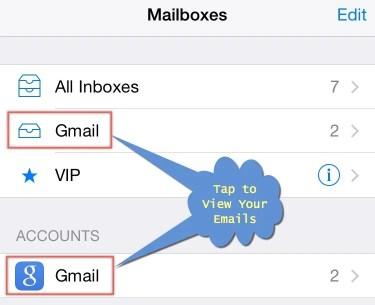 Просмотр электронной почты из почтового приложения