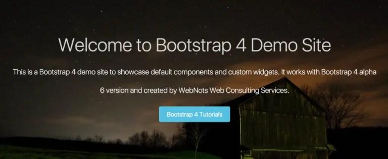 Страница Bootstrap 4 Parallax с Jumbotron