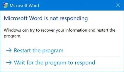 Слово не отвечает