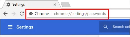 Open Chrome Password Manager