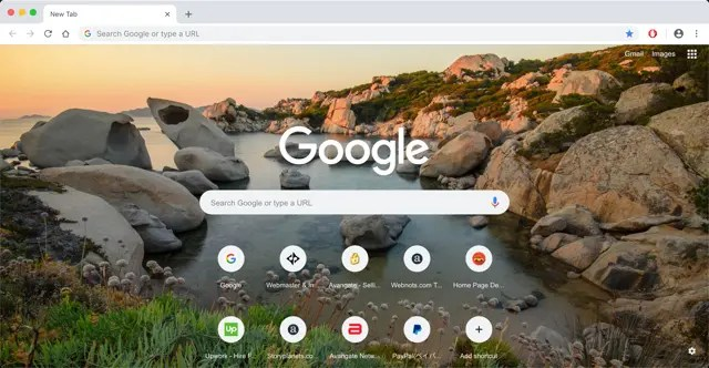 Chrome с фоновым изображением
