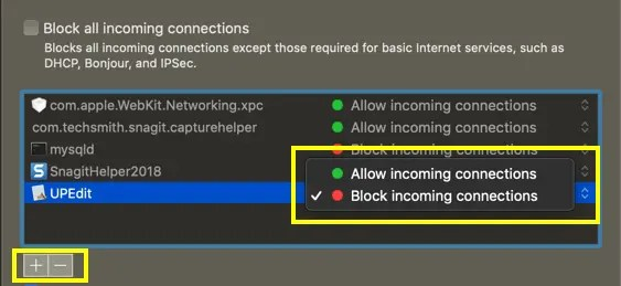 Разрешить или заблокировать приложения в настройках брандмауэра