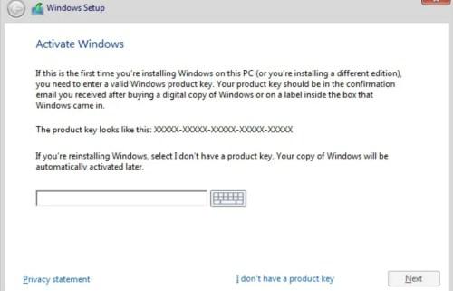 Ключ продукта Windows