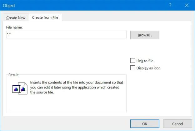 Вставить файл Excel в Word