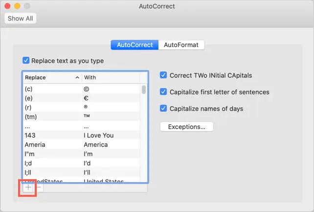 Добавить автозамену эмодзи на Mac