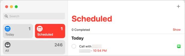 Напоминание о звонке