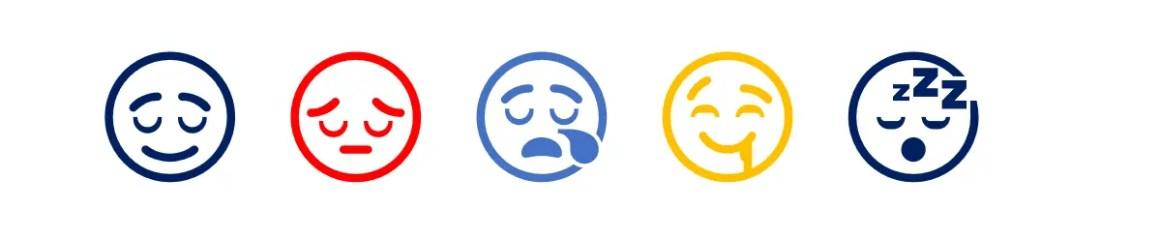 Emoji со спящим лицом в Word
