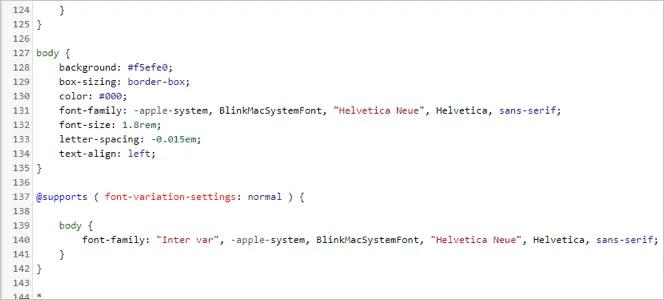 Код CSS тела