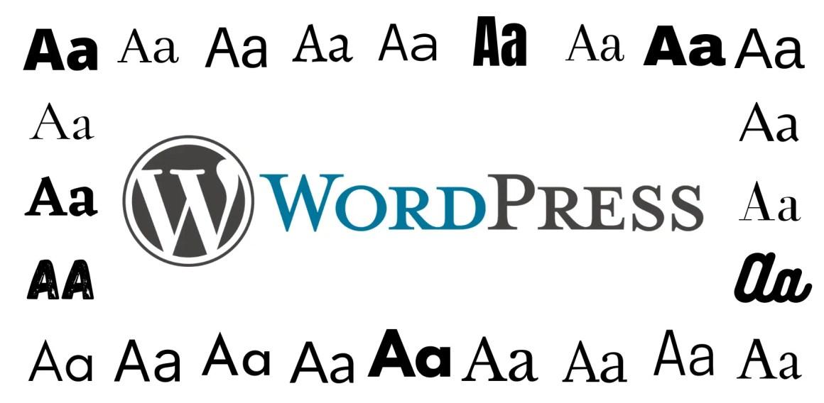 Изменить шрифт в WordPress