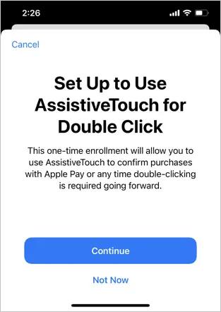 Настройка Assistive Touch для двойного щелчка