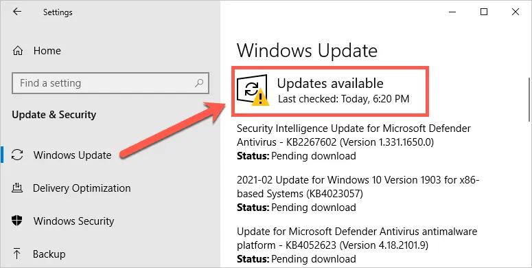 Проверить Центр обновления Windows
