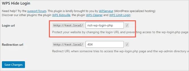 Изменить страницу входа с помощью WPS Скрыть логин