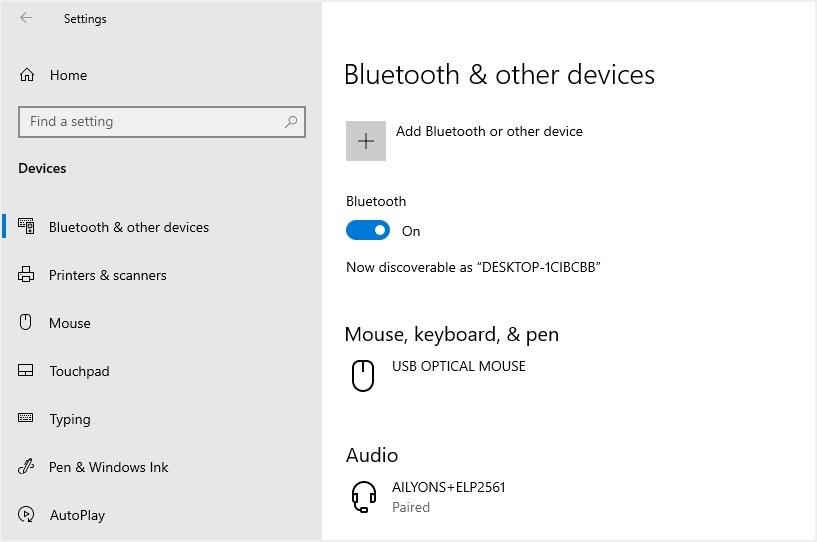Bluetooth включен