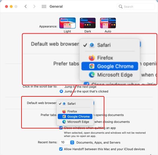 Изменить браузер по умолчанию на Mac