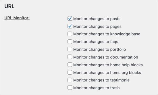 Отслеживайте изменения URL-адресов