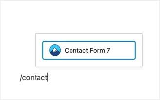 Контактная форма 7 Блок Гутенберга