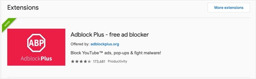 Install Adblock Plus Chrome Extension