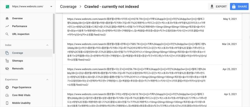 Нежелательные внутренние поисковые страницы в Google Search Console